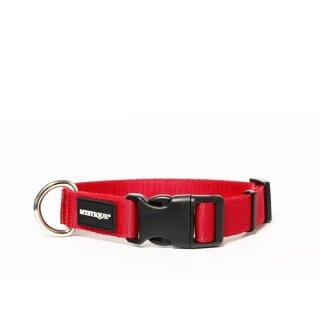 Mystique® Nylon Halsband Profi 25mm rot 50-60cm