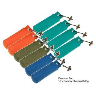 Dummy-Set 10er - 10 Standard Dummies 500g farblich gemischt Dummyset