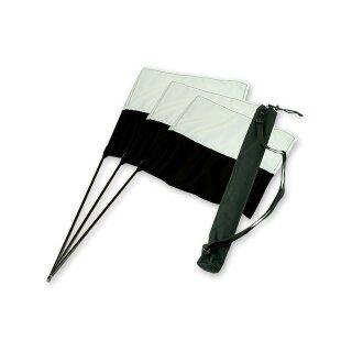 Mystique Marking Flag schwarz/weiß Set 3 Stk + Tasche