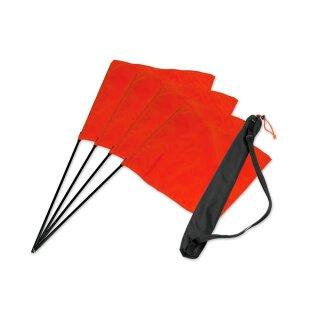 Mystique Square Flag orange Set 4 Stk + Tasche