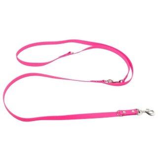 Mystique® Biothane verstellbare Leine 19mm neon pink 250cm