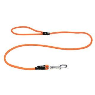 Mystique® Biothane Leine rund 6mm mit Handschlaufe neon orange 2m
