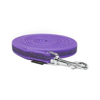 Mystique® Gummierte Schleppleine 12mm ohne Handschlaufe Standard Karabiner lila 15m