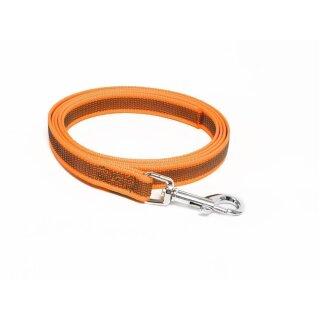 Mystique® Gummierte Leine 12mm ohne Handschlaufe Standard Karabiner neon orange 1m