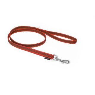 Mystique® Gummierte Leine 12mm mit Handschlaufe Standard Karabiner rot 2m