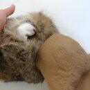 Mystique Bunny Dummy Kaninchendummy mit Kaninchenfell groß 1100g