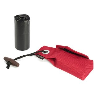 Mystique Pocket Go Toi + 1 Rolle Kotbeutel (20 Stk) weinrot