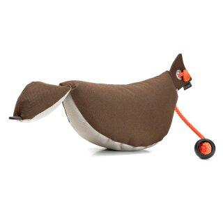 Mystique Bird Dog Dummy groß 350g braun / beige