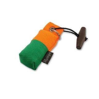 Mystique Mini Dummy Schlüsselanhänger Key Case grün/orange