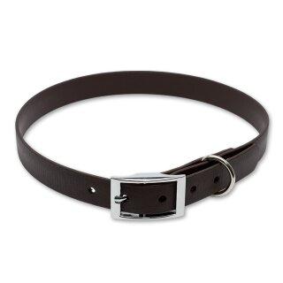 Mystique® Biothane Halsband deluxe 19mm braun 30-38cm