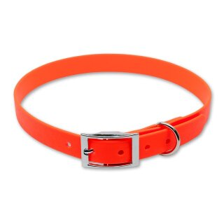 Mystique® Biothane Halsband deluxe 19mm neon orange 50-58cm
