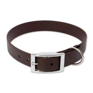 Mystique® Biothane Halsband deluxe 25mm braun 35-43cm