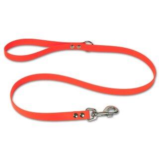 Mystique® Biothane Leine 19mm neon orange 1,2m mit HS