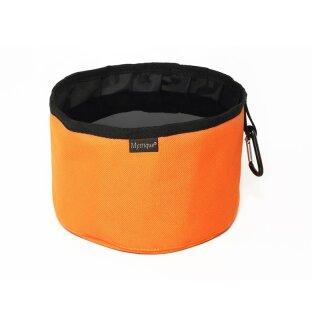 Mystique Reisetrinknapf Reisenapf mit Karabiner faltbar Faltnapf 2,0l orange
