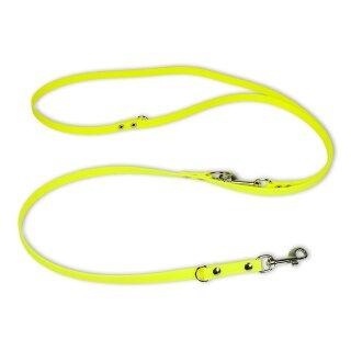 Mystique® Biothane verstellbare Leine 13mm neon gelb 200cm