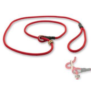 Mystique® Field trial Moxonleine Retrieverleine 6mm 130cm mit Zugbegrenzung rot